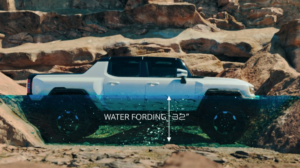 2022 GMC Hummer EV Pickup - Edition 1 - Exterior 112 - side profile - water fording