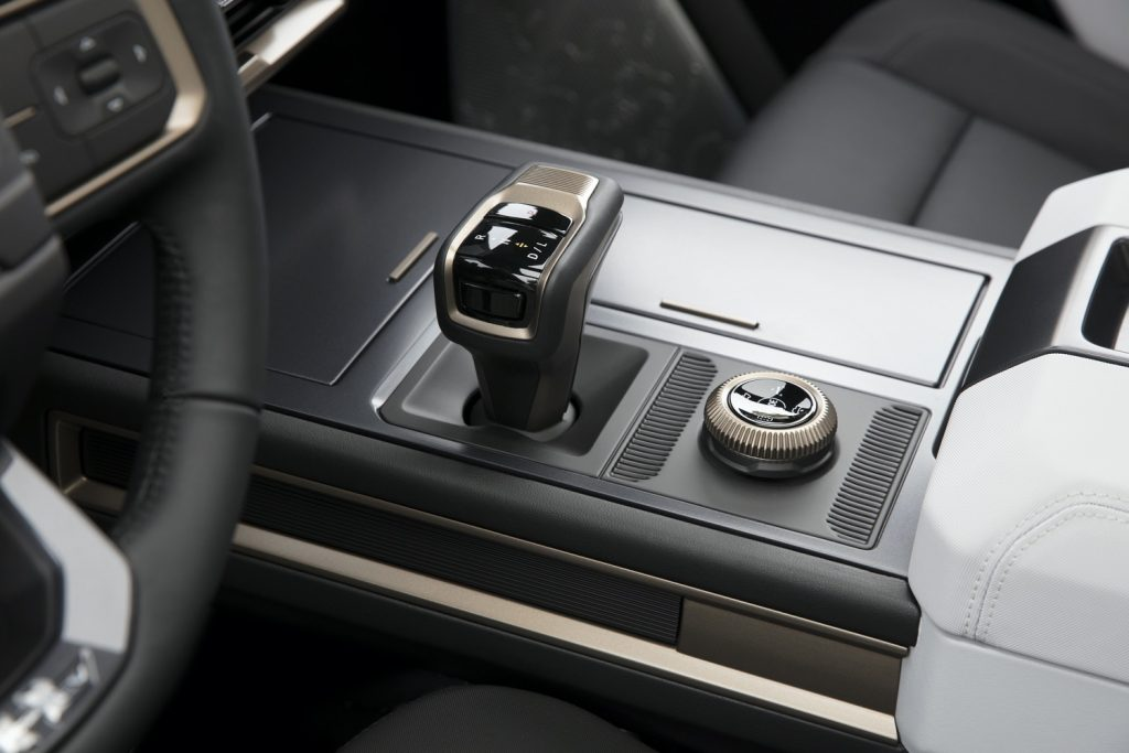 2022 GMC Hummer EV Pickup - Edition 1 - Interior 010 - steering wheel - center console - shifter - drive mode selector