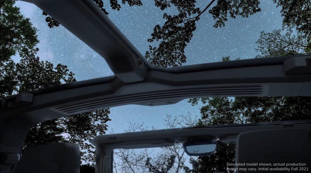 GMC Hummer EV Open Air - Interior - roof - open sky - GMC Press Image