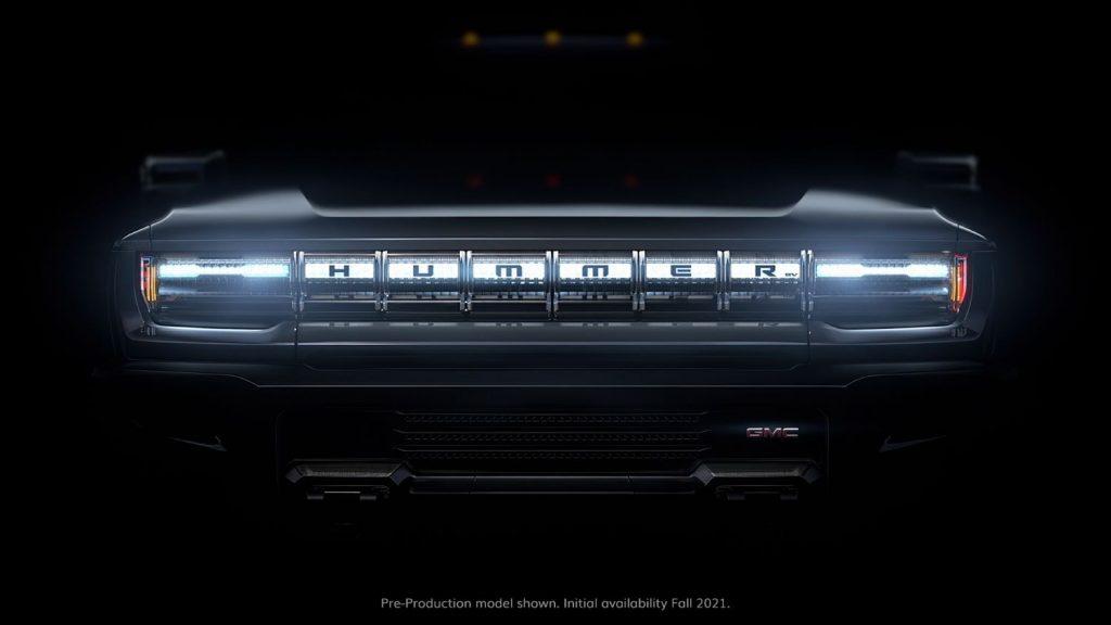 GMC Hummer EV Pickup - Teaser - Grille
