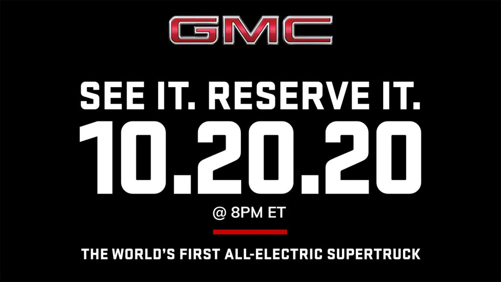GMC Hummer EV SUT - reveal date - teaser - header image - official GMC site - screen grab