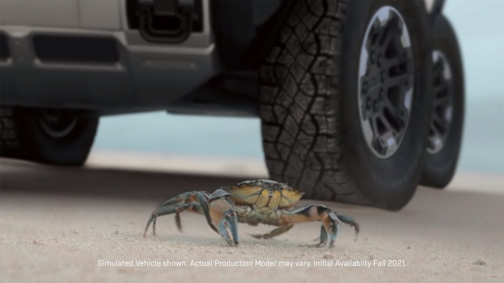 The upcoming GMC Hummer EV will feature Crab Mode driving function